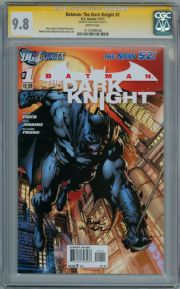 Batman The Dark Knight #1 First Print CGC 9.8 Signature Series Signed David Finch DC comic book